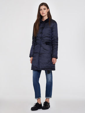 Nylon down jacket with velvet