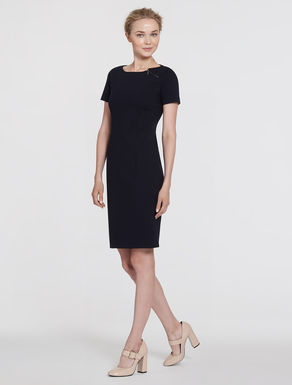 Milan stitch jersey tube dress
