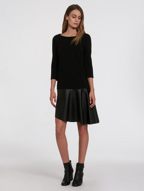 Jersey dress and coated fabric