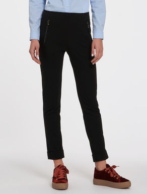 Jersey trousers with Milan stitch