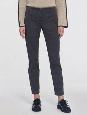 Skinny fit cotton trousers.