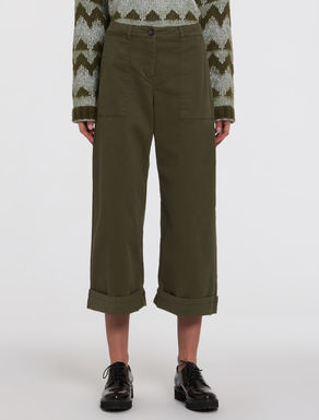 Wide-fit cotton trousers