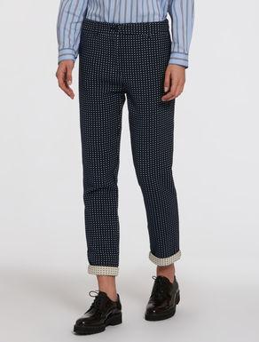 Jacquard chino trousers