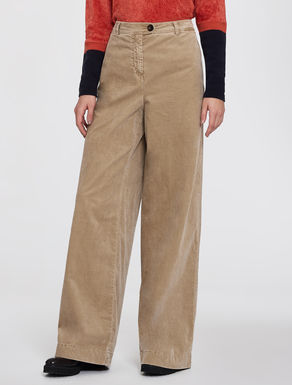 Wide-fit velvet trousers
