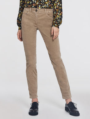 Skinny fit velvet trousers
