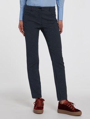 Pantaloni skinny jacquard