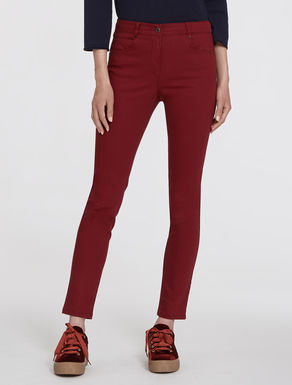 Stretch drill skinny trousers