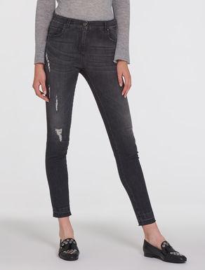 Skinny fit vintage look jeans