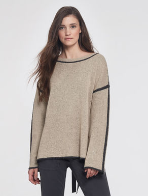 Reversible mohair sweater