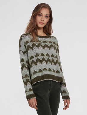 Lamé jacquard sweater