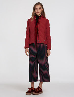 Slim opaque nylon puffer jacket
