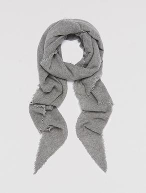 Triangular wool blend scarf