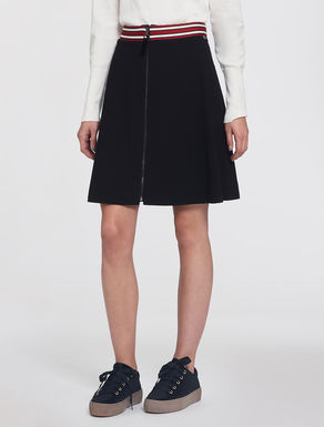 Jersey skirt with striped edge
