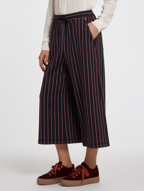 Culottes in pinstripe jersey