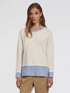 Trompe l'oeil sweatshirt-blouse