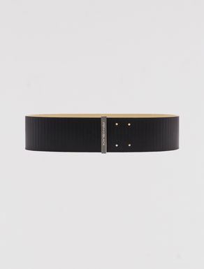 High leather belt