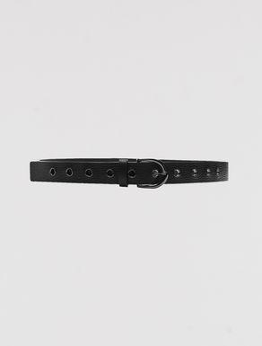 Cintura in pelle con occhielli