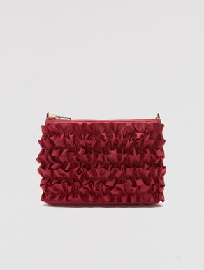Grosgrain mini bag with ruching