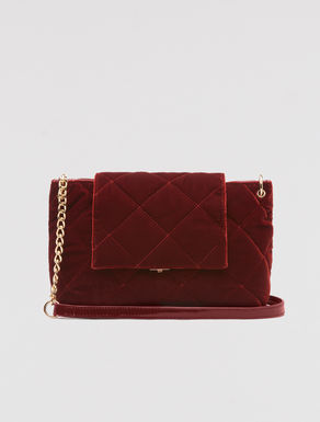 Crushed velvet cross body