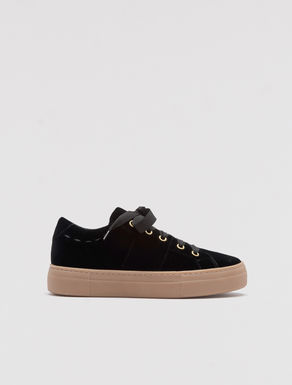 Sneakers flatform in velluto
