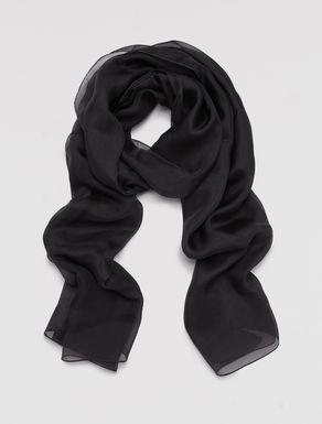 Silk chiffon stole-scarf.