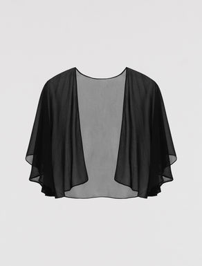 Georgette shrug cape