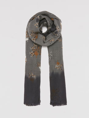 Printed wool scarf