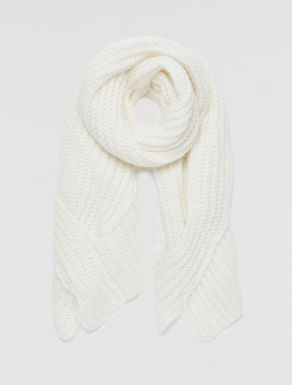 Micro-sequin knit scarf