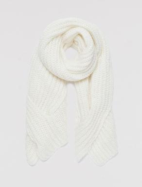 Sciarpa in maglia con micro-paillettes