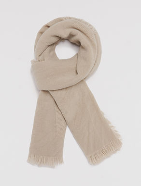 Scarf with woven checks