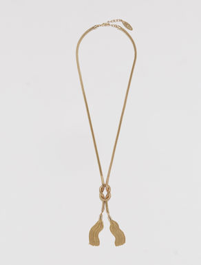 Knot and tassel necklace