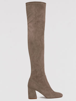 Skinny elastic over-the-knee boots
