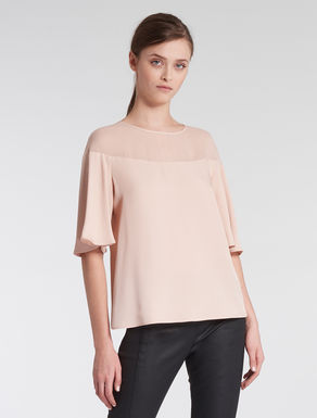Envers satin and georgette blouse