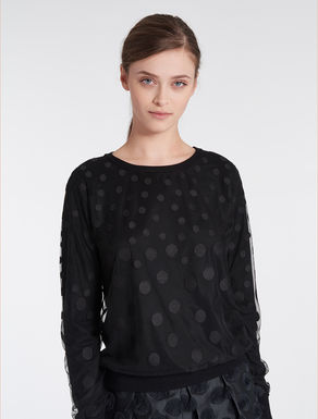 Jumper with polka-dot tulle
