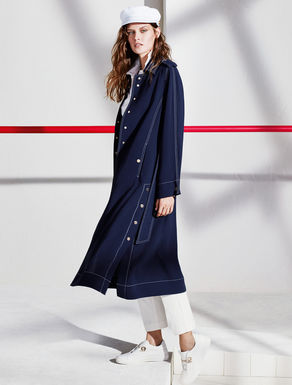 Floaty fabric trench coat