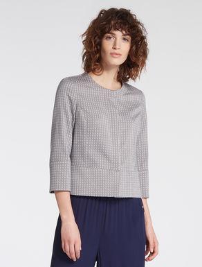 Jacquard micro-pattern jacket