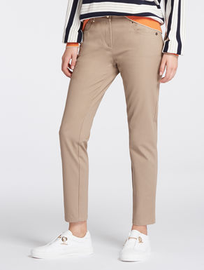 Stretch cotton skinny trousers