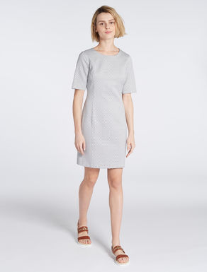 Jacquard micro-pattern dress