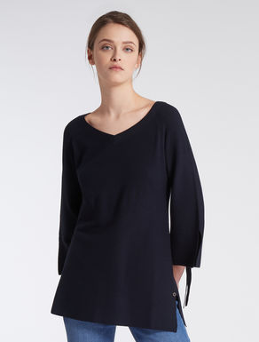 Stretch knit tunic