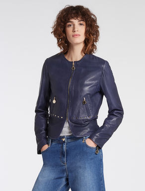 Slim-fit nappa jacket