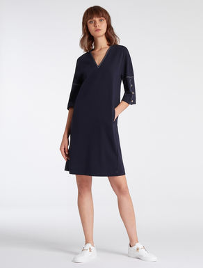 Stretch jersey tunic dress