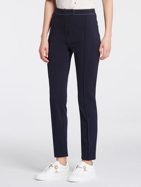 Stretch jersey skinny trousers