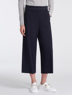 Wide stretch jersey trousers