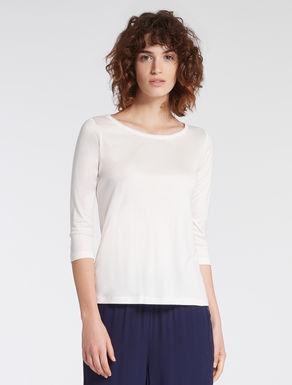 Silk/modal jersey T-shirt
