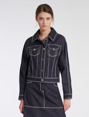 Lightweight denim blouson