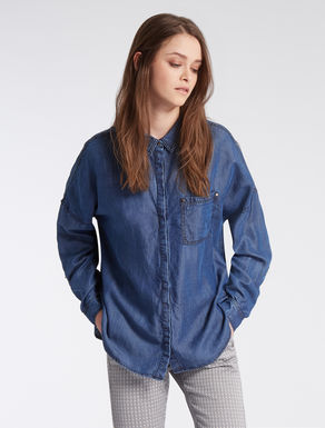 Floaty denim shirt
