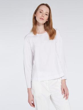 Jacquard poplin blouse