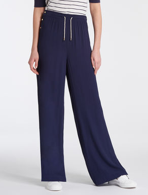 Flowing crêpe trousers