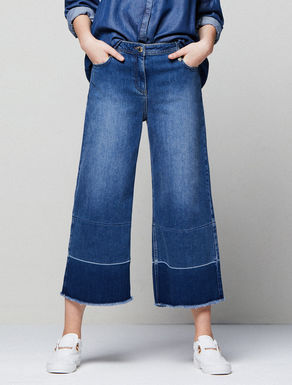Vintage-look wide-fit jeans