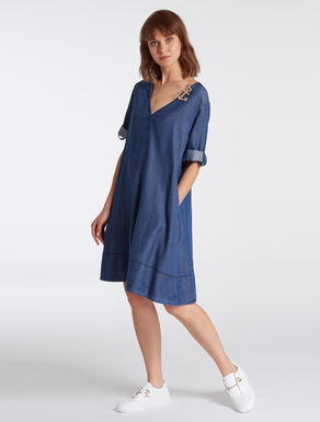 Floaty denim A-line dress